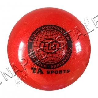 Мяч TA Sports Красный с блестками