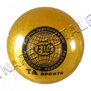 Мяч TA Sports Золотой с блестками