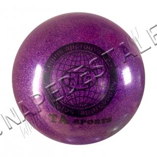 Мяч TA Sports Фиолетовый с блестками