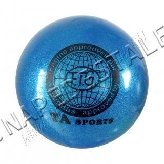 Мяч TA Sports Синий с блестками