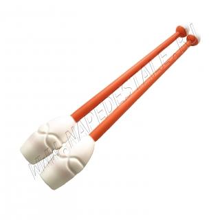 Бело-оранжевые булавы 36.5 см