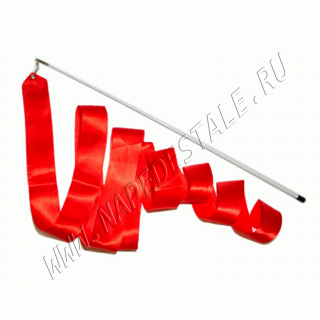 Red 6 m ribbon with stick