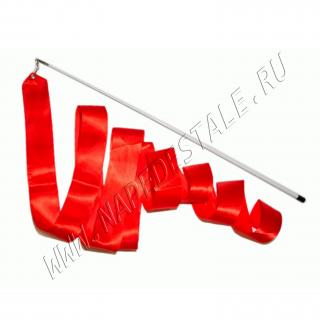 Лента 6 м с палочкой Красная