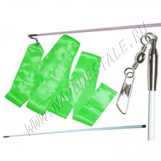 Green 6 m ribbon with stick