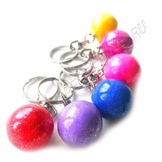 Glitter ball keyring